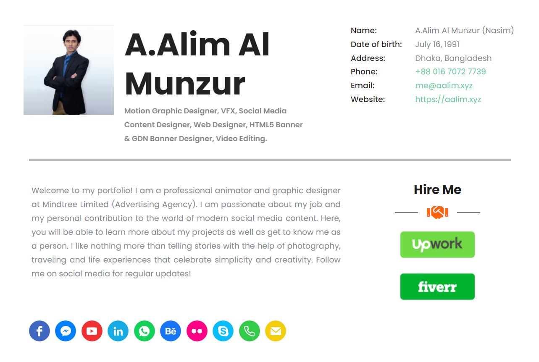 A.Alim Al Munzur Nasim - Portfolio